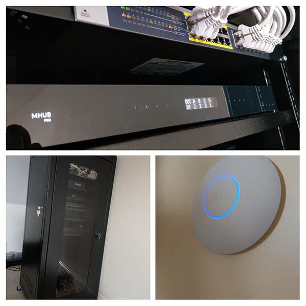Home Cat 6 Network Cabling HDMI matrix WIFI Install