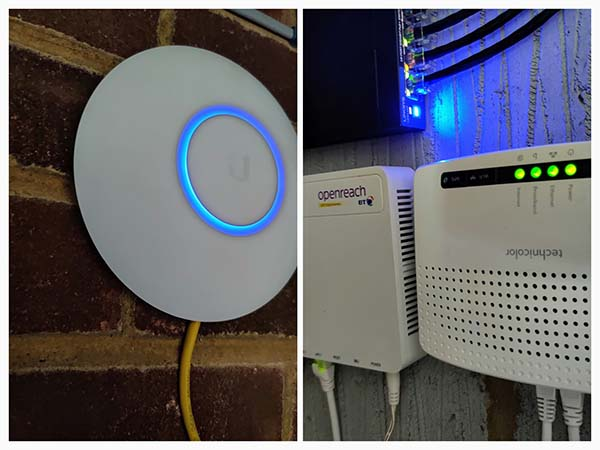 Home network Cat 6 install Maidenhead - WIFI Router & Switch wall mounted