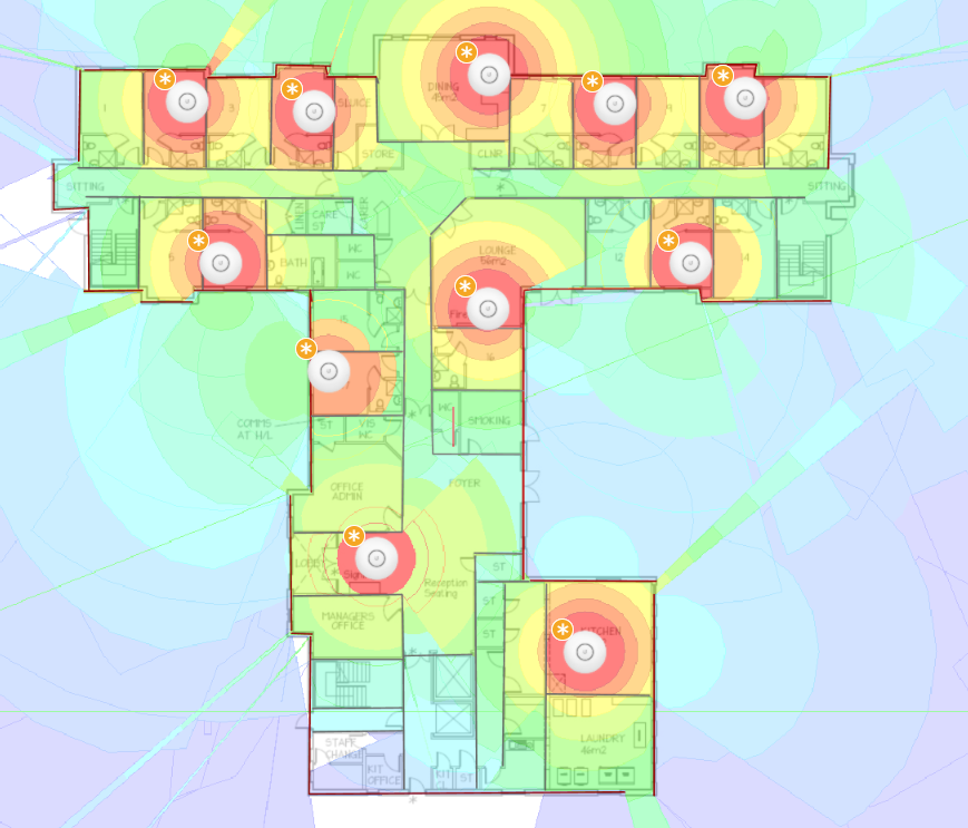 Wireless Network Speed performance heat map